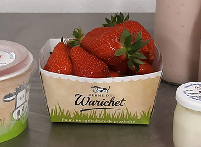 Emballage barquette de fraises Warichet
